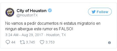 Twitter post by @HoustonTX