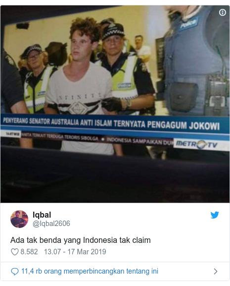 Twitter pesan oleh @Iqbal2606: Ada tak benda yang Indonesia tak claim