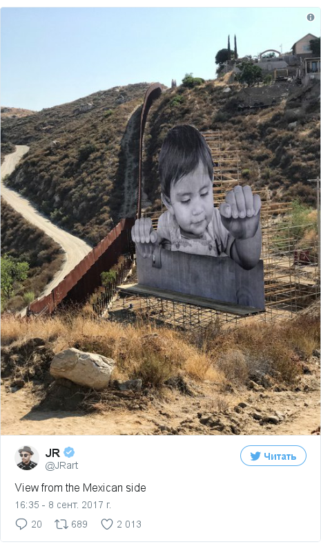 Twitter пост, автор: @JRart: View from the Mexican side pic.twitter.com/GKwyFjUepq