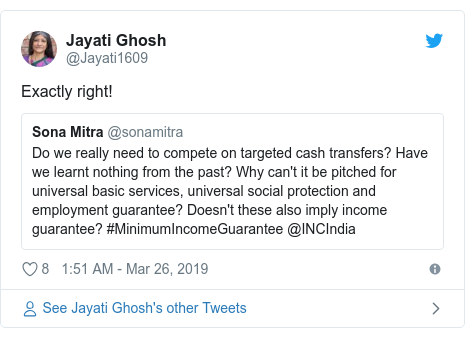 Twitter post by @Jayati1609: Exactly right!