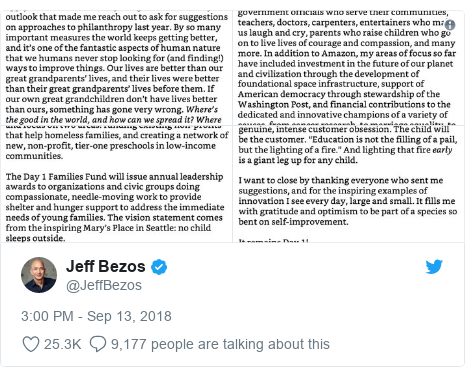 Twitter post by @JeffBezos: