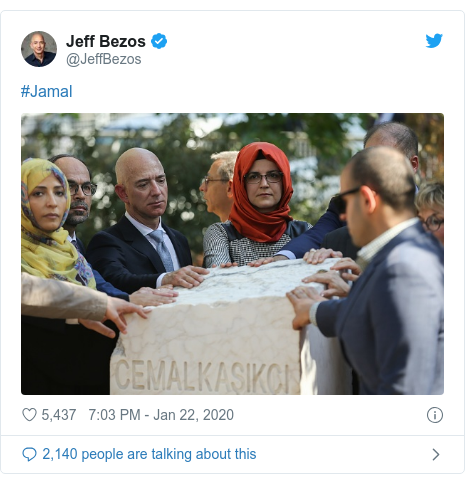 Twitter post by @JeffBezos: #Jamal