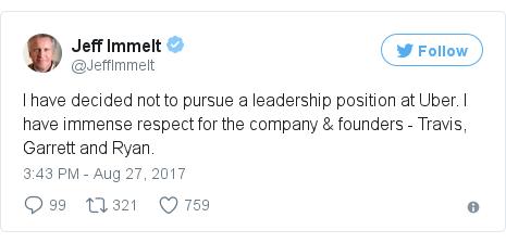 Twitter post by @JeffImmelt