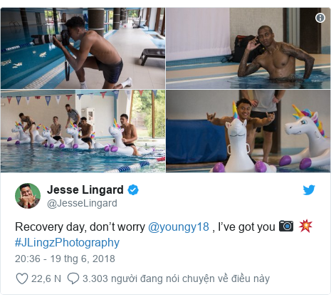 Twitter bởi @JesseLingard: Recovery day, don't worry @youngy18 , I've got you 📷 💥 #JLingzPhotography