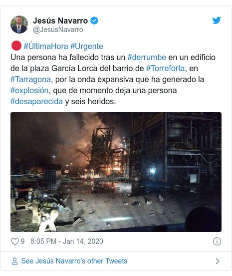 Spanish chemical plant explosion kills man 3km away