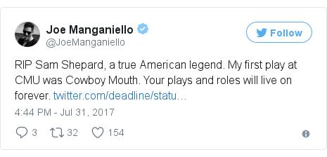 Twitter post by @JoeManganiello