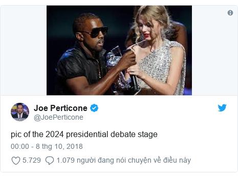 Twitter bởi @JoePerticone: pic of the 2024 presidential debate stage