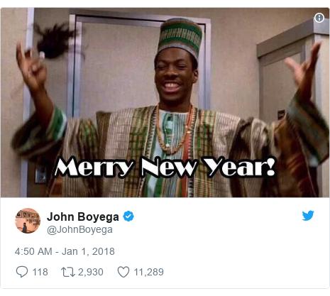 Twitter post by @JohnBoyega: