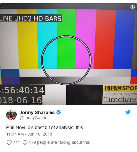 Twitter post by @JonnyGabriel: Phil Neville's best bit of analysis, this.