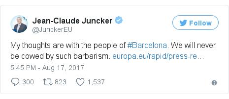 Twitter post by @JunckerEU