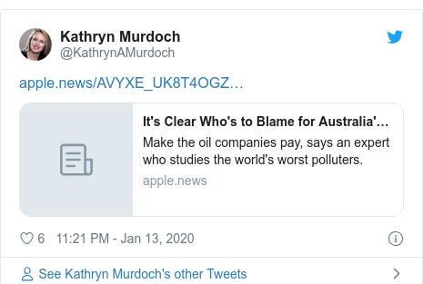 Twitter post by @KathrynAMurdoch: