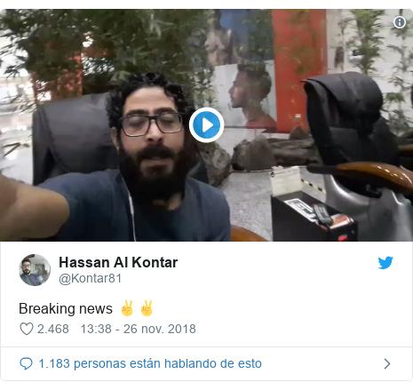 Publicación de Twitter por @Kontar81: Breaking news ✌✌