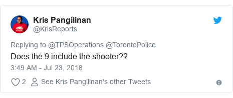 Twitter waxaa daabacay @KrisReports: Does the 9 include the shooter??