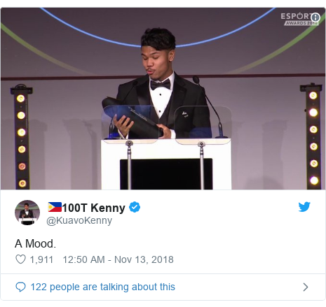 Twitter post by @KuavoKenny: A Mood.