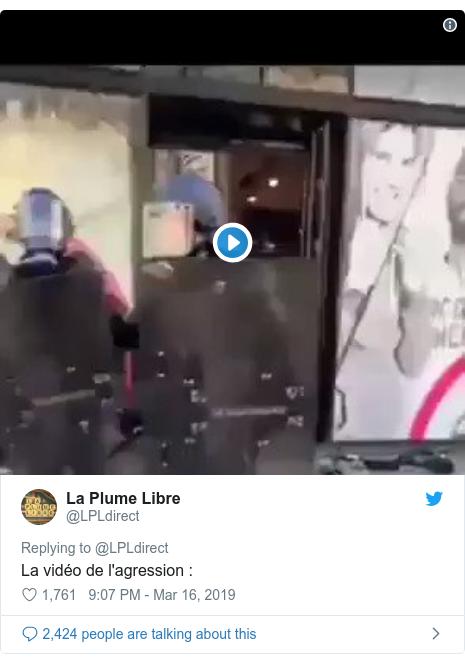 Twitter post by @LPLdirect: La vidéo de l'agression