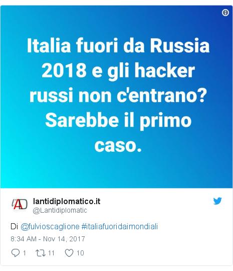 Twitter post by @Lantidiplomatic: Di @fulvioscaglione #italiafuoridaimondiali