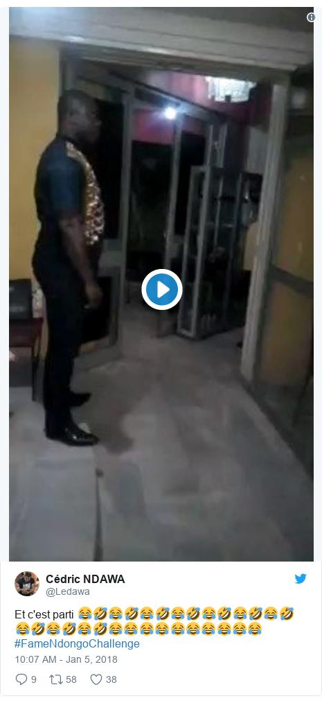 Twitter post by @Ledawa: Et c'est parti 😂🤣😂🤣😂🤣😂🤣😂🤣😂🤣😂🤣😂🤣😂🤣😂🤣😂😂😂😂😂😂😂😂😂😂 #FameNdongoChallenge