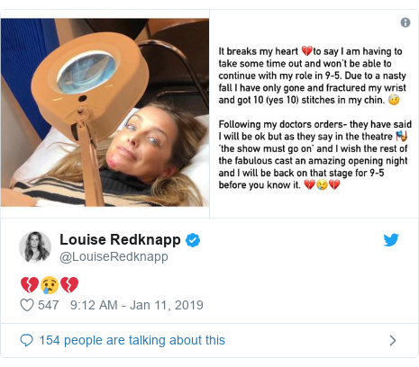 Twitter post by @LouiseRedknapp: 💔😢💔