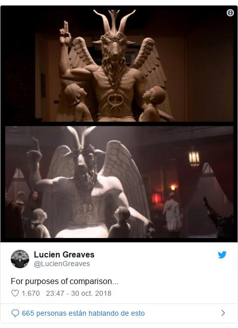 Publicación de Twitter por @LucienGreaves: For purposes of comparison...