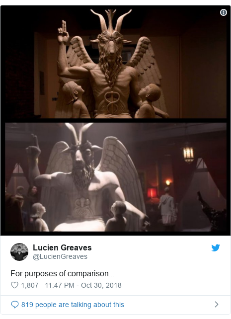 Twitter post by @LucienGreaves: For purposes of comparison...