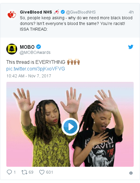 Twitter post by @MOBOAwards: This thread is EVERYTHING 🙌🏾🙌🏾