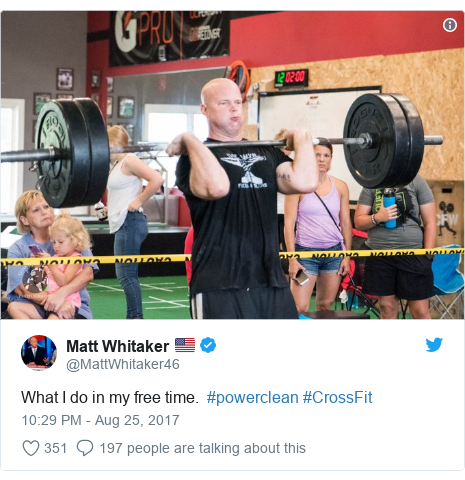 Twitter post by @MattWhitaker46: What I do in my free time.  #powerclean #CrossFit