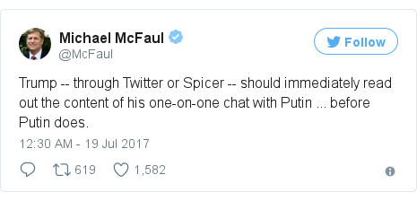 Twitter post by @McFaul
