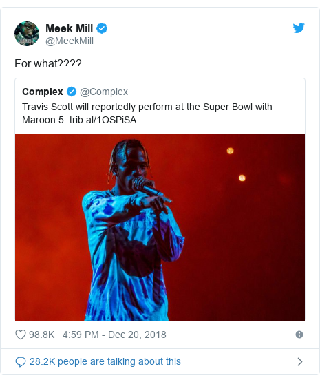 Twitter post by @MeekMill: For what????