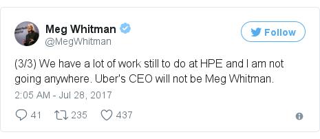 Twitter post by @MegWhitman