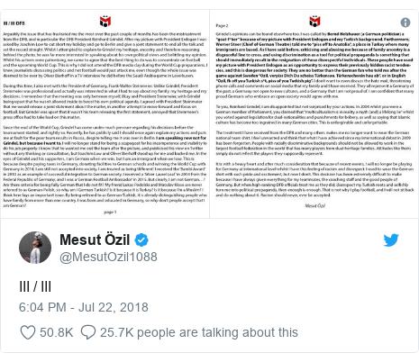 Twitter post by @MesutOzil1088: III / III