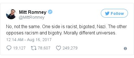 Twitter post by @MittRomney