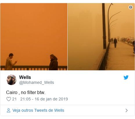 Twitter post de @Mohamed_Wells: Cairo , no filter btw.