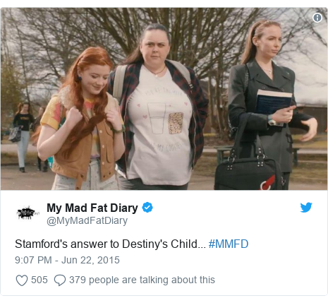 Twitter post by @MyMadFatDiary: Stamford's answer to Destiny's Child... #MMFD