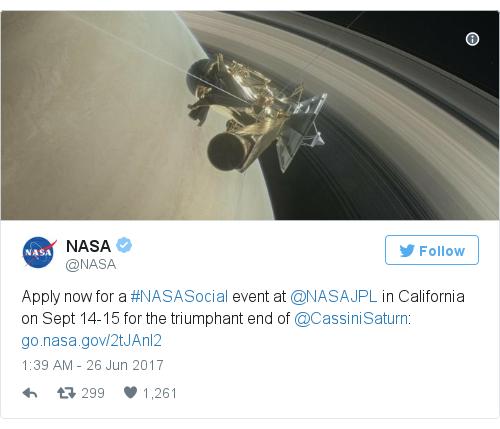 @NASA এর টুইটার পোস্ট