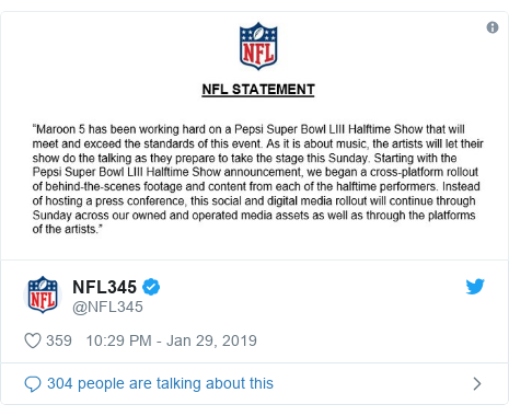 Twitter post by @NFL345: