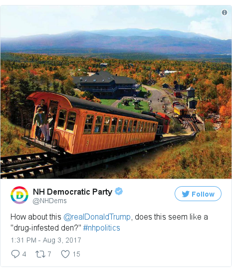 Twitter post by @NHDems