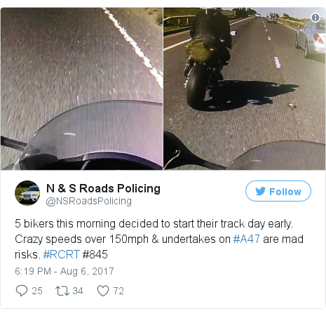 Twitter post by @NSRoadsPolicing