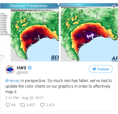 Twitter post by @NWS