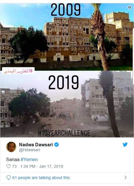 Twitter post by @Ndawsari: Sanaa #Yemen