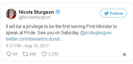 Twitter post by @NicolaSturgeon