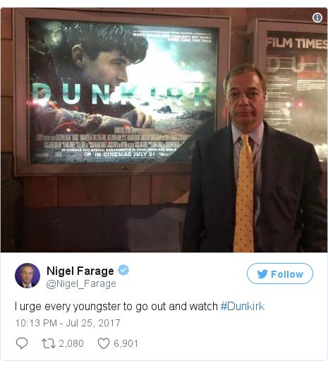Twitter post by @Nigel_Farage