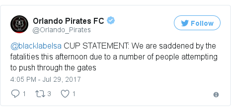 Twitter post by @Orlando_Pirates