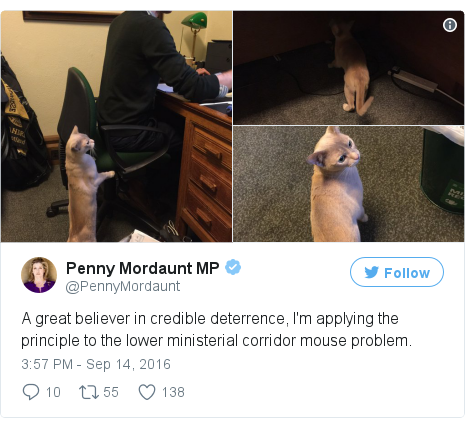 Twitter post by @PennyMordaunt