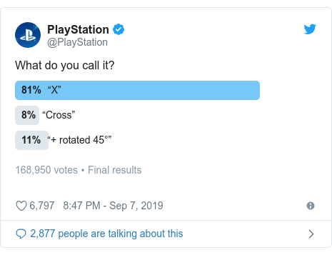 Twitter post by @PlayStation: What do you call it?