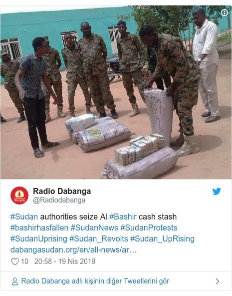 @Radiodabanga tarafından yapılan Twitter paylaşımı: #Sudan authorities seize Al #Bashir cash stash #bashirhasfallen #SudanNews #SudanProtests #SudanUprising #Sudan_Revolts #Sudan_UpRising
