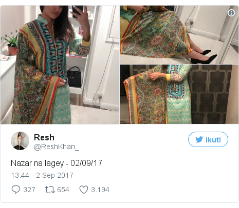 Twitter pesan oleh @ReshKhan_: Nazar na lagey - 02/09/17 pic.twitter.com/F2Inu07kwH