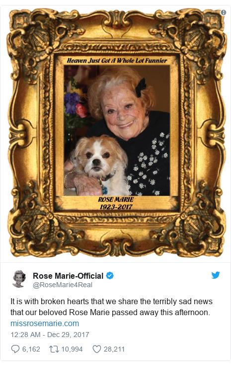 rose marie dick van dyke show star dies at 94 bbc