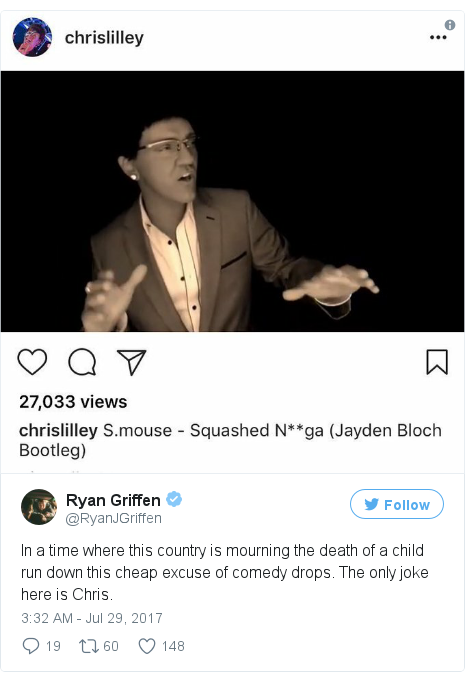 Twitter post by @RyanJGriffen