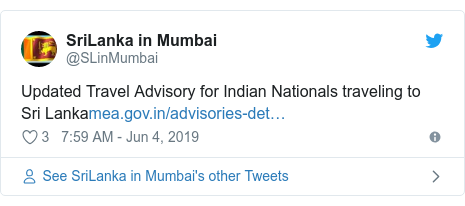 Twitter හි @SLinMumbai කළ පළකිරීම: Updated Travel Advisory for Indian Nationals traveling to Sri Lanka