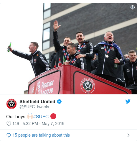 Twitter post by @SUFC_tweets: Our boys 🙌🏻#SUFC 🔴